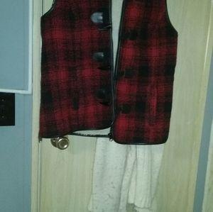 A plaid down vest